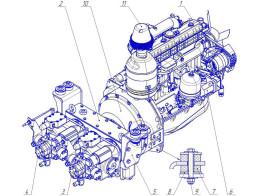 Силовая установка и редуктор раздаточный