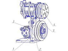Привод компрессора( в комплектации с кондиционером)