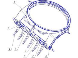 Рыхлитель поворотного круга (опциональная комплектация)
