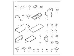 029 комплект прокладок/over haul gasket kit - all