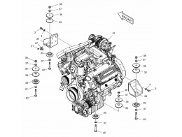 1120 установка двигателя/engine mounting