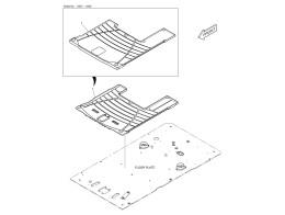 1550 коврики пола/floor mat