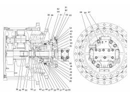 4170 Привод хода/TRAVEL MOTOR