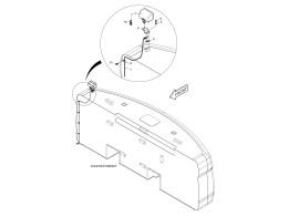 6630 освещение/working lamp - rear
