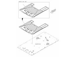6760 коврики пола/floor mat - rotating