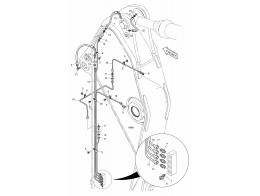 7080 смазочные трубопроводы/lubrication piping - arm