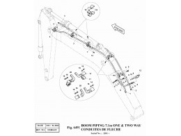 6491 Трубопроводы стрелы/BOOM PIPING-7.1m ONE & TWO WAY (SERIAL:1201~)