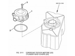 0111 крышка головки цилиндров/cylinder head covers (2/2)