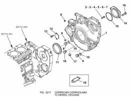 0217 картер маховика/flywheel housing