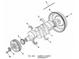 0241 коленчатый вал/crankshaft