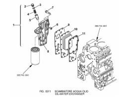 0311 Водомасляный теплообменник/OIL-WATER EXCHANGER