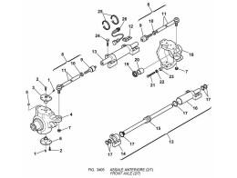 3405 передний мост/front axle (2/7)