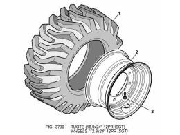 3700 колеса/wheels (12.9x24&quot 12pr isgt)