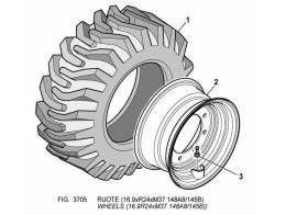 3705 колеса/wheels (16.9r24xm37 148a8/145b))