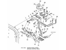 4150 педаль тормоза/braking control pedal