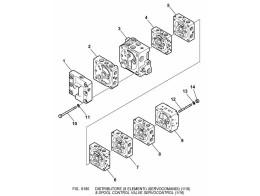6180 гидросистема/8-spool control valve servocontrol (1/16)