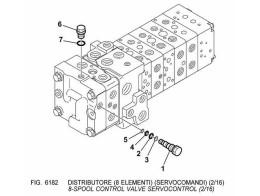 6182 гидросистема/8-spool control valve servocontrol (2/16)