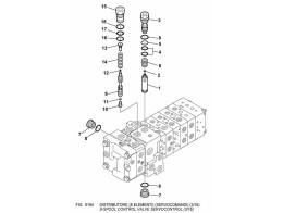 6184 гидросистема/8-spool control valve servocontrol (3/16)