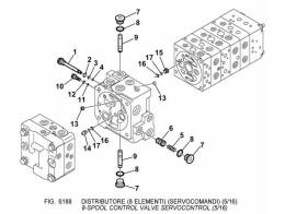 6188 гидросистема/8-spool control valve servocontrol (5/16)