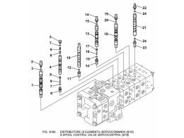 6190 гидросистема/8-spool control valve servocontrol (6/16)