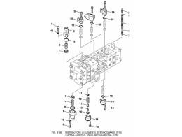 6192 гидросистема/8-spool control valve servocontrol (7/16)