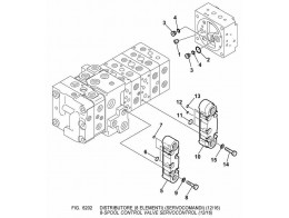 6202 гидросистема/8-spool control valve servocontrol (12/16)