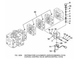 6204 гидросистема/8-spool control valve servocontrol (13/16)