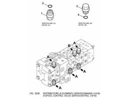 6206 гидросистема/8-spool control valve servocontrol (14/16)