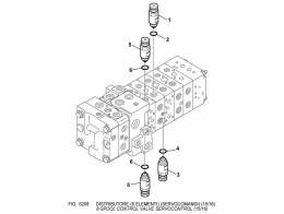 6208 гидросистема/8-spool control valve servocontrol (15/16)