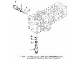 6210 гидросистема/8-spool control valve servocontrol (16/16)