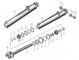 Гидравлический цилиндр подъема ковша XGYG01-141/142