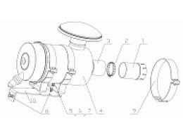 AIR FILTER ASSEMBLY D7019-1109000/06