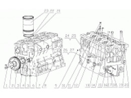 CYLINDER BLOCK ASSEMBLY D7019-1002000/10
