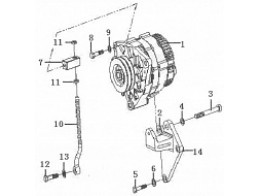 Alternator and bracket assembly