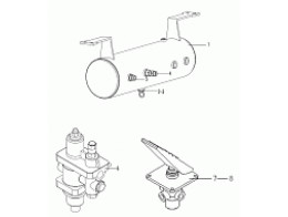 AIR RESERVOIR&#65292BRAKE CONTROL VALVE&#65292AIR DRYER