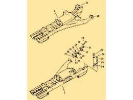 Steering and brake linkage 1