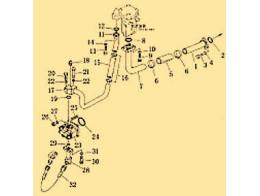 Steering and brake linkage 2