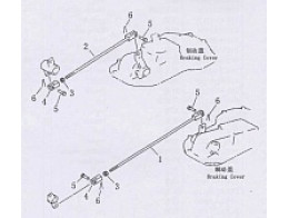 Steering and brake linkage 1